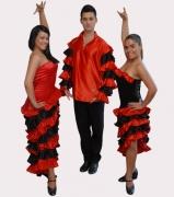 Latin-amerikai - Latin-amerikai táncruhák - táncruha kölcsönzés jelmez, mikulás, sárgulás, szalagavatói nyitótánc, nyitótánc ruhák, szalagavatói táncruhák, keringőruha kölcsönzés, táncruha varrás, paraszti ruhák,  sárgulási ruhák, ünnepi ruhák, szüreti mulatság, kán-kán, latin, Budapest, Debrecen