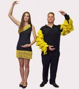 Sárga rojtos latin ruha