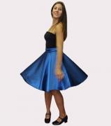 Térdig érő kék-sárga show ruha (kifordítható)