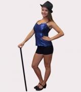 Flitteres disco és show ruha fekete nadrággal