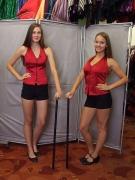 Piros disco és show ruha