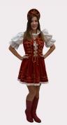 Csárdás ruha vörös csizmával